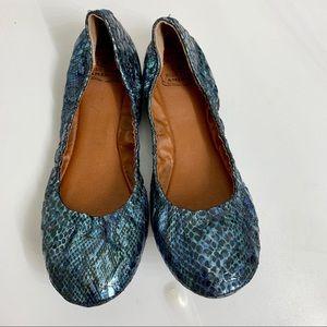 Lucky Brand Blue Jeans America Ballet Flats 8.5